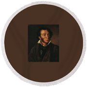 1827 Vasily Tropinin Round Beach Towel