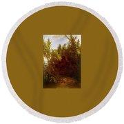 1856-57 Pan Amongst The Reeds Arnold Bcklin Round Beach Towel
