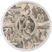 1860-1870 Round Beach Towel