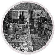 1860's Ore Assay Office Shop - Montana Round Beach Towel