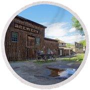1863 H. S. Gilbert Brewery - Virginia City Ghost Town Round Beach Towel