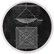 1869 Fishnet Patent Round Beach Towel