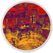 1872 Abstract Thought Round Beach Towel