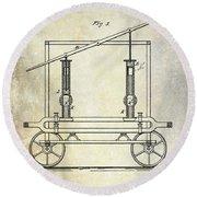 1875 Fire Extinguisher Patent Round Beach Towel