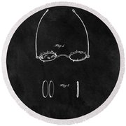 1875 Spectacles Patent Round Beach Towel