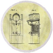 1876 Beer Cooler Patent Round Beach Towel
