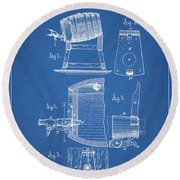 1883 Beer Faucet Design Round Beach Towel
