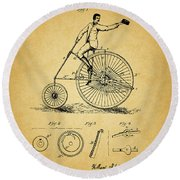 1883 Bicycle Round Beach Towel