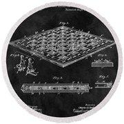 1896 Chessboard Patent Round Beach Towel