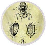 1897 Fireman's Inhaler Patent Round Beach Towel
