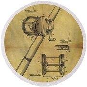 1899 Fishing Reel Patent Round Beach Towel
