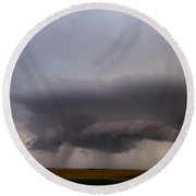 4th Storm Chase 2015 Round Beach Towel