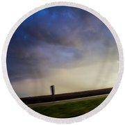 6th Storm Chase 2015 Round Beach Towel