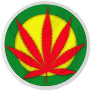 Cannabis 420 Collection Round Beach Towel
