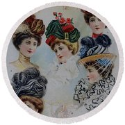 19 Century Ladies Hats The Delineator Early Autumn Hats Round Beach Towel