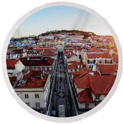 Lisbon, Portugal Round Beach Towel