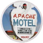 Route 66 - Tucumcari New Mexico Round Beach Towel