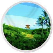 19- Shangri La Round Beach Towel