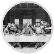 The Last Supper Round Beach Towel