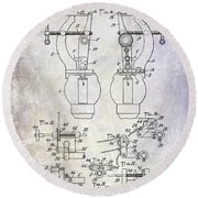 1902 Watchmakers Lathes Patent Round Beach Towel