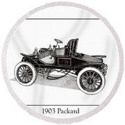 1903 Packard Round Beach Towel