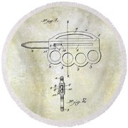 1906 Oyster Shucking Knife Patent Round Beach Towel