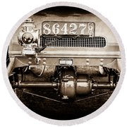1906 White Model F Roi Des Belges Touring Rear Lamp -0058s Round Beach Towel