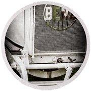 1908 Benz Prince Heinrich Two Seat Race Car Grille Emblem -1696ac Round Beach Towel
