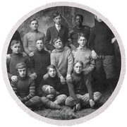 1908 Football Team Round Beach Towel