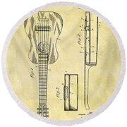 1911 Guitar Patent Round Beach Towel