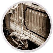 1912 Rolls-royce Silver Ghost Rothchild Et Fils Style Limousine Snake Horn -0711s Round Beach Towel