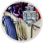 1913 Rolls Royce Silver Ghost Detail Round Beach Towel