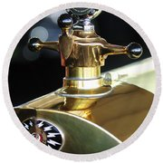 1917 Owen Magnetic M-25 Hood Ornament Round Beach Towel
