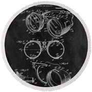 1917 Welder Goggles Round Beach Towel