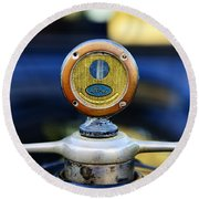 1919 Ford Model T Hood Ornament Original Round Beach Towel by Paul Ward