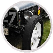 1920-1930 Ford Racer Round Beach Towel