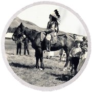 1920s Native And Crowd Round Beach Towel