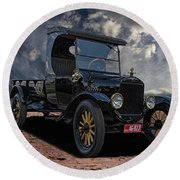 1923 Model T Ford Truck Round Beach Towel