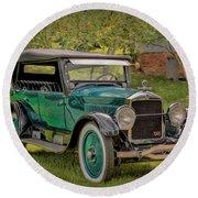 1923 Studebaker Big Six Touring Car Round Beach Towel