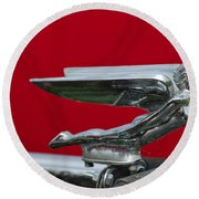 1924 Ford Hood Ornament Round Beach Towel