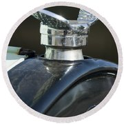 1925 Ford Model T Hood Ornament Round Beach Towel