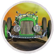 1926 Ford Model T 'dry Lakes' Roadster Viii Round Beach Towel