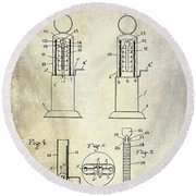 1926 Toy Filling Station Patent Round Beach Towel