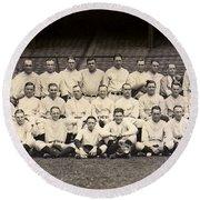 1926 Yankees Team Photo Round Beach Towel