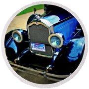 1927 Blue Buick Round Beach Towel