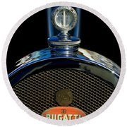 1927 Bugatti Replica Hood Ornament Round Beach Towel
