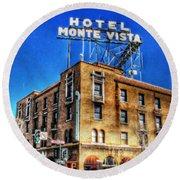 1927 Hotel Monte Vista - Flagstaff  Round Beach Towel