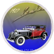 1927 Lasalle Round Beach Towel