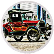 1927 Model T Ford Roadster Round Beach Towel
