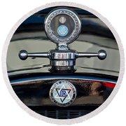 1928 Dodge Brothers Hood Ornament Round Beach Towel